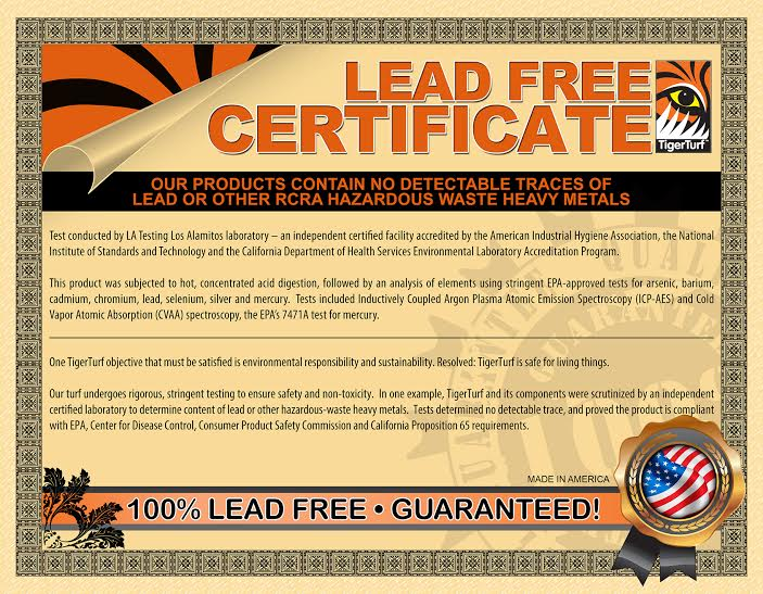 Lead Free Artificial Turf