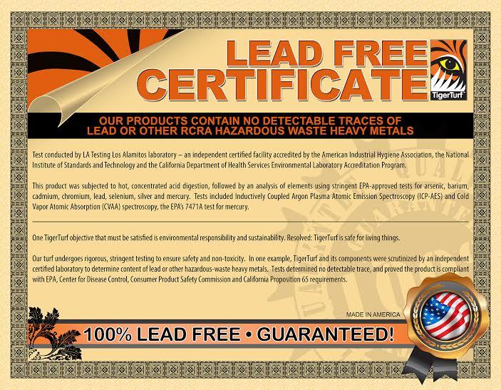Lead Free Artificial Turf